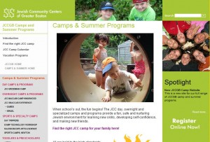 JCCs of Greater Boston Camp Website