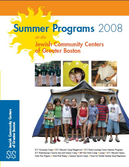 JCCs of Greater Boston Camp Brochure