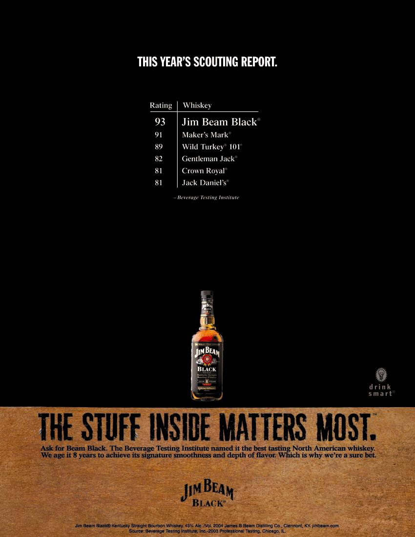 Jim Beam Black Magazine Ad