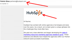 hubspot email expanded